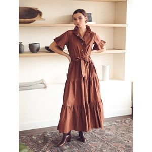 Mille Victoria Maxi Dress in Clay